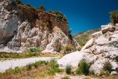 Mountains near Rio Chillar River in Nerja, Malaga Royalty Free Stock Photo