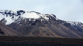 Mountains near Skaftafell in east fjords in Iceland Royalty Free Stock Images