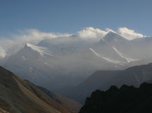 Mountains in Nepal. View from Annapurna Base Camp Royalty Free Stock Images