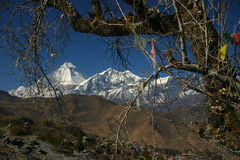Mountains of Nepal. Near Annapurna Stock Photography