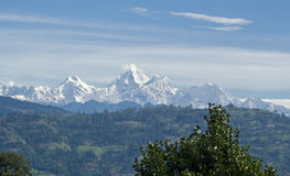 Mountains in Nepal Royalty Free Stock Images