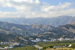 Mountains between Nerja and mortil Royalty Free Stock Photography