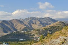 Mountains between Nerja and mortil Stock Photography