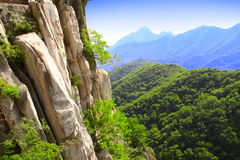 Mountains next to famous Shaolin monastery, China Royalty Free Stock Images