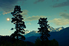 Mountains at night Royalty Free Stock Images