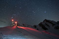 Mountains at night Stock Photography