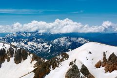 Mountains of the North Caucasus. View from the top of the mountain Oshten Stock Images