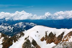 Mountains of the North Caucasus. View from the top of the mountain Oshten Stock Image