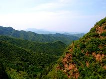 Mountains in the north of China. Photo made from the Great Wall stock images