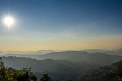 Mountains in the North of Thailand Royalty Free Stock Photo