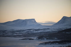 Mountains in northern Sweden Royalty Free Stock Images