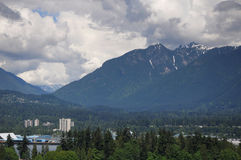 Mountains of Northern Vancouver Royalty Free Stock Photos
