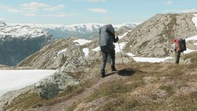 Through the mountains. Of Norway stock footage