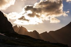 Mountains in Norway. Jotunheimen National Park Royalty Free Stock Image