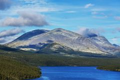 Mountains in Norway. Jotunheimen National Park Royalty Free Stock Photography