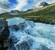 Mountains in Norway. Jotunheimen National Park Royalty Free Stock Images