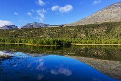 Mountains in Norway. Jotunheimen National Park Royalty Free Stock Photo