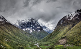 Mountains in Norway Stock Photos