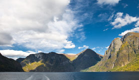 Mountains and norwegian fiord Royalty Free Stock Image