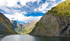 Mountains and Norwegian fiord Stock Image