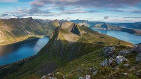 Mountains. Norwegian landscape of mountains and rivers Royalty Free Stock Photography
