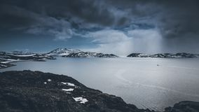 Mountains. Nuuk, Greenland. May 2014. Mountains in Nuuk, Greenland. May 2014 Royalty Free Stock Photos