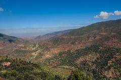 Mountains and oasis in southern Morocco. Northern Africa Stock Photography