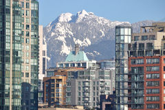 Mountains Obscured by Vancouver Real Estate Royalty Free Stock Photography