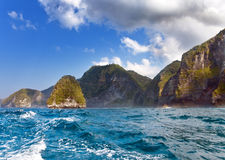 Mountains and ocean. Indonesia. Royalty Free Stock Image
