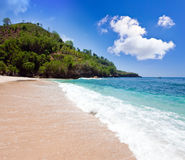 Mountains and ocean. Indonesia. Bali. Royalty Free Stock Images