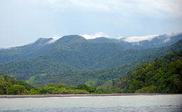 Mountains, ocean and tropical nature in Central America Stock Photography