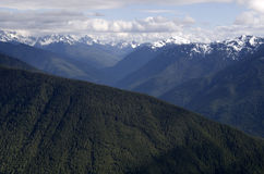 Mountains in Olympic National Park stock photography