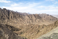 Mountains Oman. Canyons and rocky mountains in Oman Royalty Free Stock Images