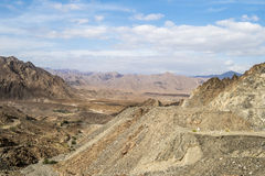 Mountains Oman. Canyons and rocky mountains in Oman Royalty Free Stock Photos