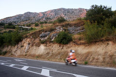 The mountains in Omis, Croatia Royalty Free Stock Images