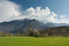 Mountains On Sky Stock Photography