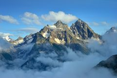Mountains over cloud Royalty Free Stock Image