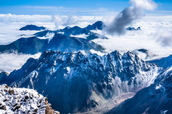 mountains over the clouds Royalty Free Stock Photos