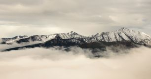 Mountains over clouds Royalty Free Stock Photography