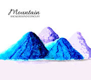 Mountains painted oils background concept. Vector Stock Images