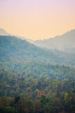 Mountains painted by sun shades Royalty Free Stock Image