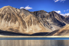 Mountains and Pangong tso (Lake), Leh, Ladakh, Jammu Kashmir, India Stock Images