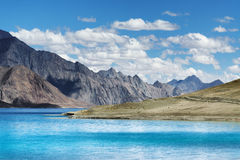 Mountains,Pangong tso (Lake),Leh Ladakh,Jammu and Kashmir,India Royalty Free Stock Photos