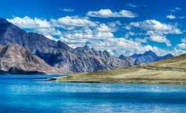 Mountains,Pangong tso (Lake),Leh Ladakh,Jammu and Kashmir,India Royalty Free Stock Photo
