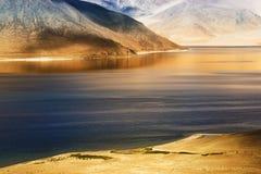 Mountains,Pangong tso Lake,Leh,Ladakh,Jammu and Kashmir,India Royalty Free Stock Photo
