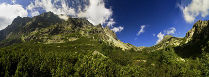 Mountains panorama Royalty Free Stock Photo