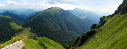 Mountains panorama Stock Images