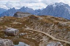 Mountains Panorama of the Dolomites Royalty Free Stock Photos