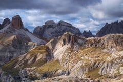 Mountains Panorama of the Dolomites Royalty Free Stock Photo