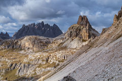 Mountains Panorama of the Dolomites Royalty Free Stock Images